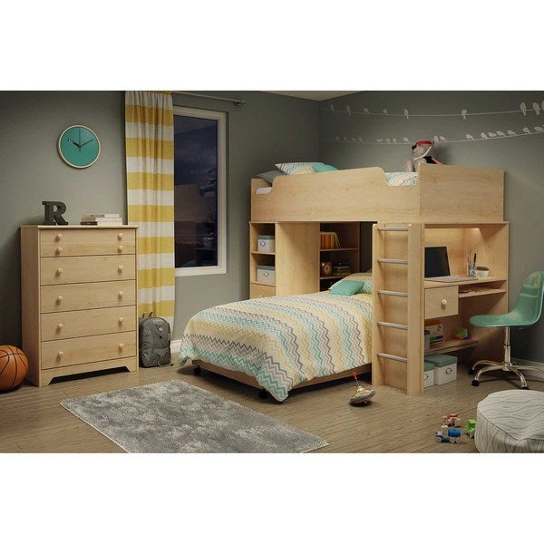 Shop South Shore Logik Twin Loft Bed Free Shipping Today