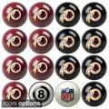 NFL Teams Licensed Football Billiard Balls (Complete Set of 16 Balls)