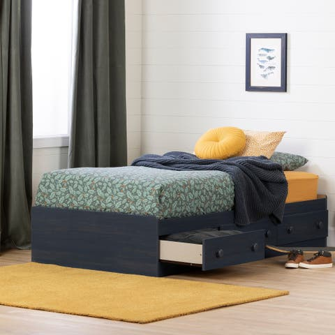 South Shore Summer Breeze Mates Bed with 3 Drawers- Twin