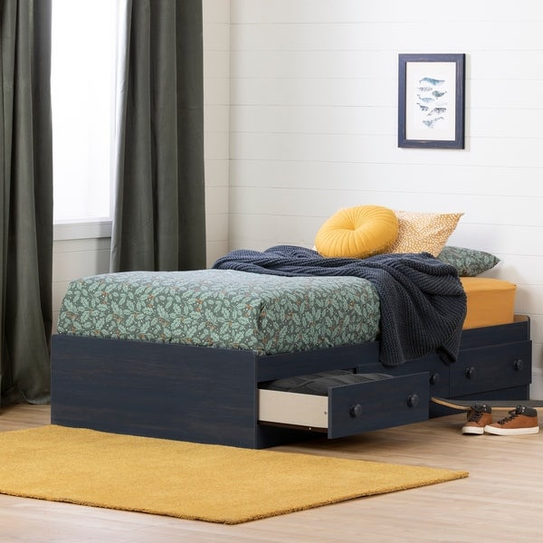South Shore Summer Breeze Mates Bed with 3 Drawers- Twin. Opens flyout.