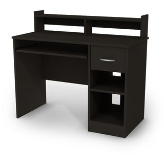 South Shore Axess Black Desk with Keyboard Tray