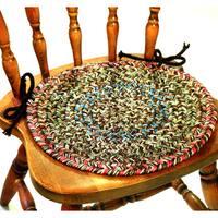 Rhody Rug Sophia 4-piece Braided Reversible Chair Pad Set