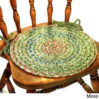 Rhody Rug Sophia Braided Reversible Chair Pads (Set of 4)