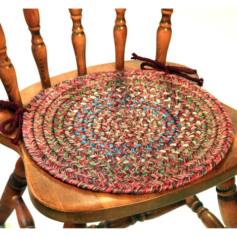 Rhody Rug Sophia 4-piece Braided Reversible Chair Pad Set