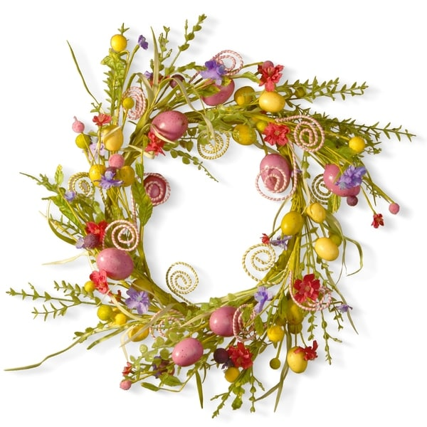 24 garden accents easter wreath - Garden Accents