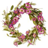 20-inch Floral Wreath with Daisy and Lavender