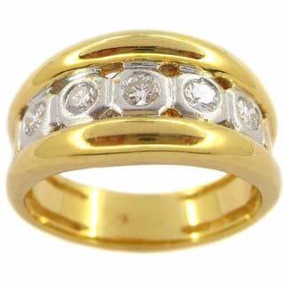 Kabella 18k Yellow Gold 3/8ct TDW 5-stone Diamond Ring (G-H, SI1-SI2)