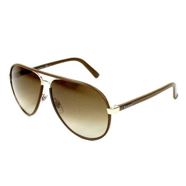 701cc688cb0 Shop Gucci Men s GG2887 S Metal Aviator Sunglasses - Chocolate ...
