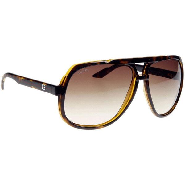 f67a1eceb41 Shop Gucci Men s 1622 S Plastic Aviator Sunglasses - Free Shipping Today -  Overstock - 10007330