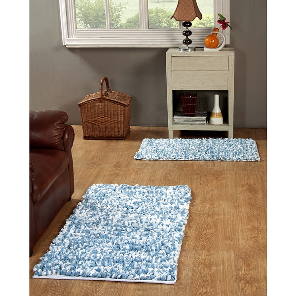 Shop Hand Woven Paper Shag Rug Set Of 2 21 X 34inches And