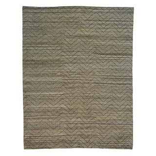 Modern Moroccan Berber Hand Knotted Oriental Rug (9'2 x 11'10)