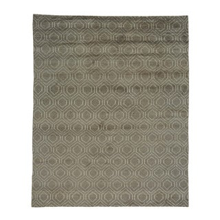 Modern Moroccan Berber Oriental Hand Knotted Rug (8'1 x 10')