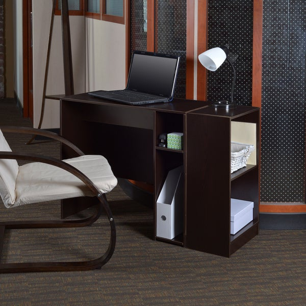 niche no tools assmebly 31inch desk with 2shelf bookcase free shipping today