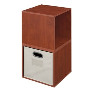 Niche No Tools Assembly Cubo Storage Cubes with 1 Canvas Bin (Set of 2)