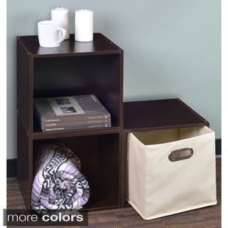 Niche No Tools Assembly Cubo Storage Cubes and 1 Canvas Bin (Set of 3)