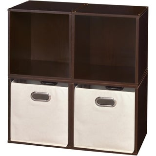 Niche No Tools Assembly Cubo Cubes and 2 Canvas Bins (Set of 4)