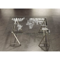 World map office desk drafting table free shipping today the curated nomad del sur nickel world map office desk gumiabroncs Image collections