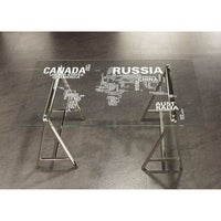 Shop world map office desk drafting table free shipping today the curated nomad del sur nickel world map office desk gumiabroncs Images