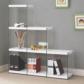 Coaster Company Glass and Veneer 6-cube Bookcase