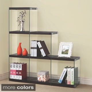 Coaster Company Glass and Veneer 6-cube Bookcase
