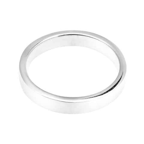 Handmade Simple Sterling Silver Plain Band Ring (Thailand)