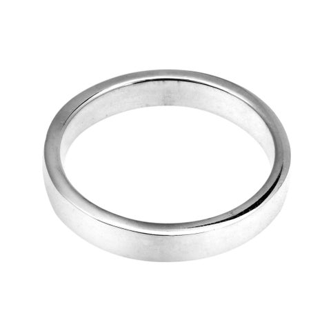 Handmade Simple Sterling Silver Plain Band (Thailand)