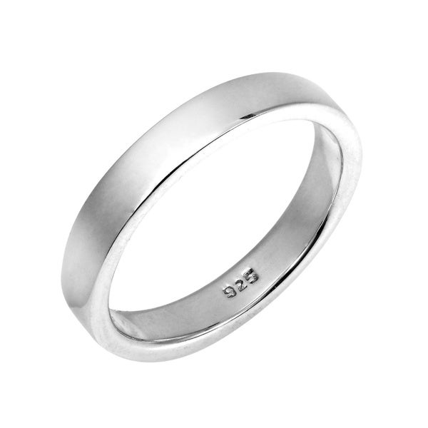 Handmade Simple Sterling Silver Plain Band Ring (Thailand). Opens flyout.