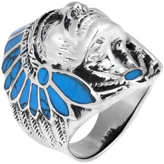 Native American Indian Chief Head Sterling Silver Ring (Thailand)