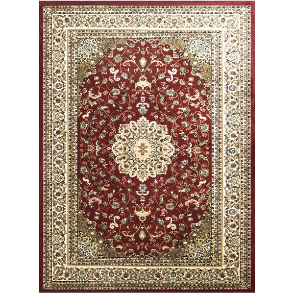 LYKE Home McKayla Red Oriental Area Rug (7' x 10')