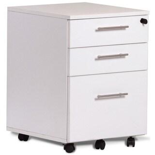 Jesper Office White Three-drawer Mobile Pedestal