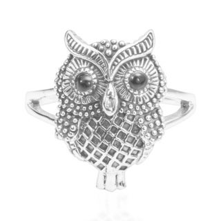 Intuitive Magic Owl .925 Sterling Silver Ring (Thailand)