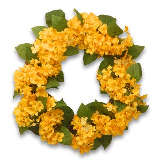 24-inch Yellow Hydrangea Wreath