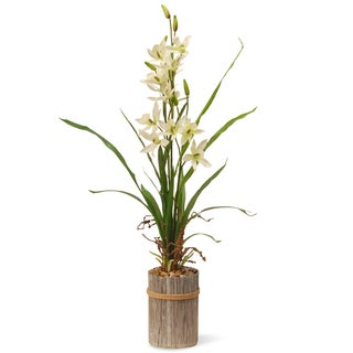 30-inch Cream Potted Flower