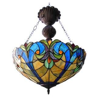 Chloe Tiffany Style Victorian Design 2-light Dark Bronze Pendant