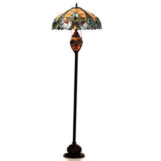 Chloe Tiffany Style Victorian Design 3-light Dark Bronze Floor Lamp