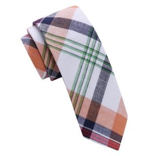 Skinny Tie Madness Men's Dipthong Plaid Skinny tie