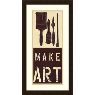 Kelsey Hochstatter 'Make Art' Framed Art Print 14 x 26-inch