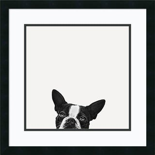 Framed Art Print 'Loyalty (Dog)' by Jon Bertelli 22 x 22-inch