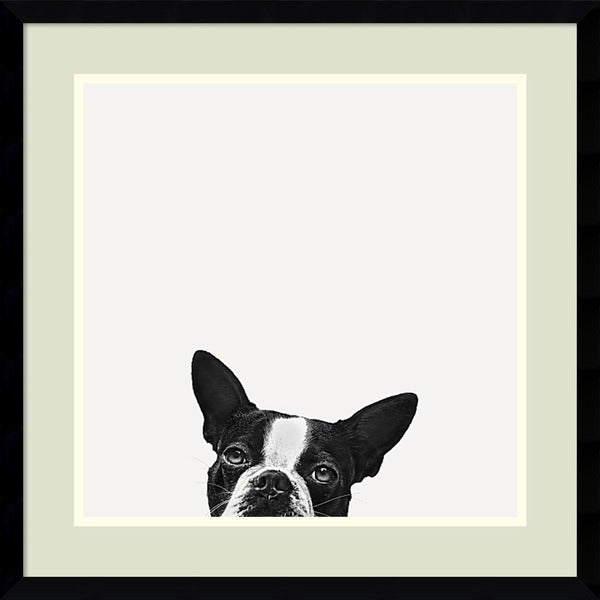 Framed Art Print 'Loyalty (Dog)' by Jon Bertelli 20 x 20-inch