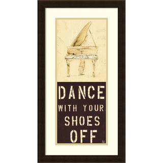 Kelsey Hochstatter 'Dance With Your Shoes Off' Framed Art Print 14 x 26-inch