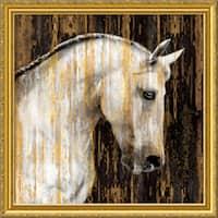 Framed Art Print 'Horse II' by Martin Rose 31 x 31-inch