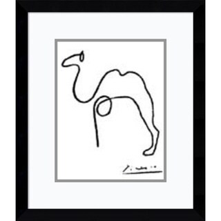 Framed Art Print 'The Camel' by Pablo Picasso 12 x 14-inch