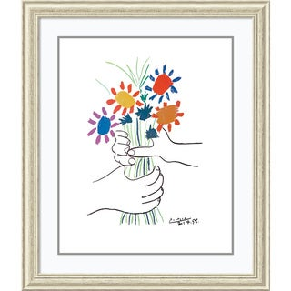 Pablo Picasso 'Hands with Bouquet (Fleurs et Mains)' Framed Art Print 34 x 40-inch