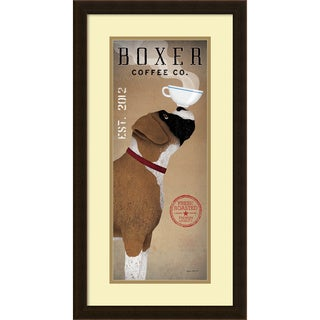 Ryan Fowler 'Boxer Coffee Co. v.2' Framed Art Print 15 x 28-inch