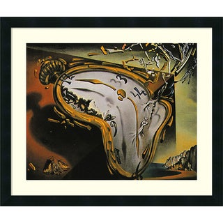 Salvador Dali 'Melting Watch' Framed Art Print 26 x 22-inch