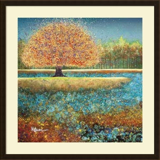 Framed Art Print 'Jewel River' by Melissa Graves-Brown 34 x 34-inch