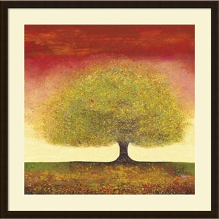 Melissa Graves-Brown 'Dreaming Tree Red' Framed Art Print 34 x 34-inch