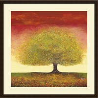 Framed Art Print 'Dreaming Tree Red' by Melissa Graves-Brown 34 x 34-inch