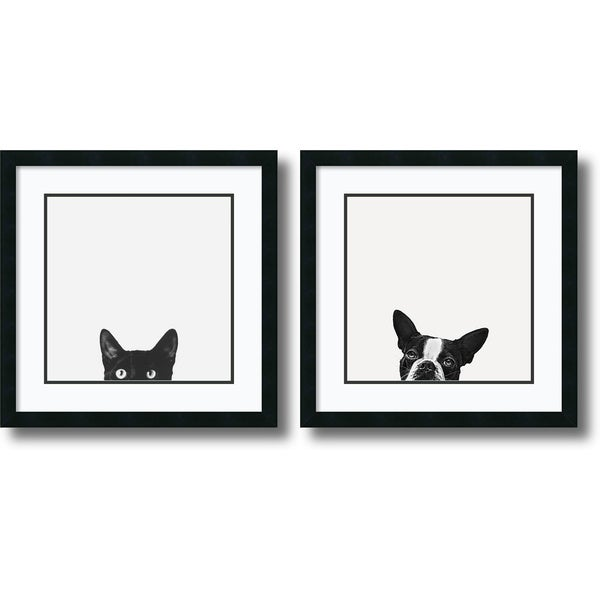 Framed Art Print 'Curiosity and Loyalty  - set of 2' by Jon Bertelli 22 x 22-inch Each