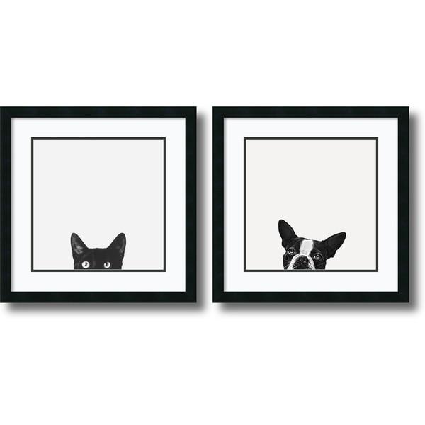 Framed art print curiosity and loyalty set of 2x27